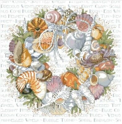 Beach Shell Wreath,  14CT counted cross stitch kit. Craft brand new