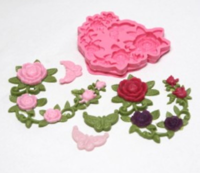 (handmade mould) Deco rose-5 balls Silicone soap Mould plaster Mold
