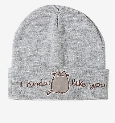 b0fbd27710f NWT! PUSHEEN CAT Cuffed Beanie With Ears-Pink -  11.99