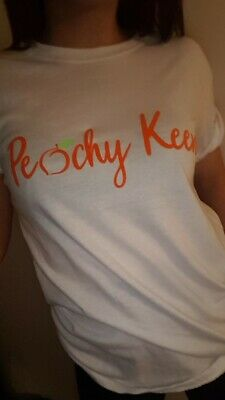 'Peachy Keen'  T Shirt  Womens Funny Hipster Tumblr Fashion Fdc