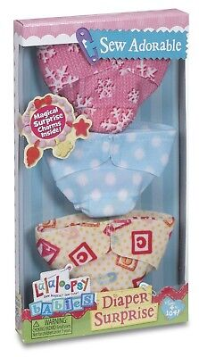 Lalaloopsy Babies Diaper Surprise Refill Pack 3 Sew Adorable Diapers **Brand New