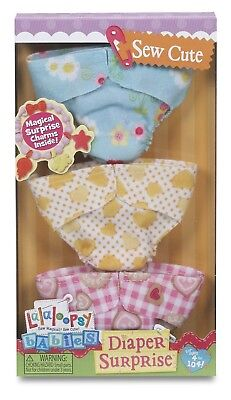 Lalaloopsy Babies Diaper Surprise Refill Pack 3 Sew Cute Diapers **Brand New **