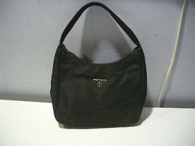 50f5e8a447952c Authentic Prada Black Nylon Tessuto Sport Mini Hobo Bag Purse W/Dust Bag