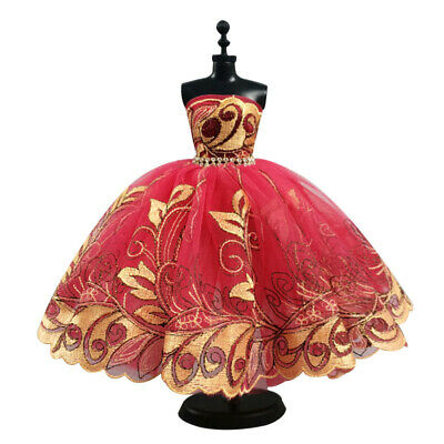 Red Flower Costume One-piece Party Dress For 11.5inch Doll 1/6 Fashion Clothes