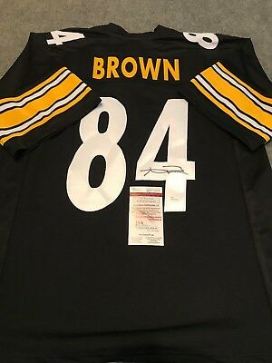ANTONIO BROWN SIGNED AUTO PITTSBURGH STEELERS BLACK JERSEY JSA Size ... 3a4818baf