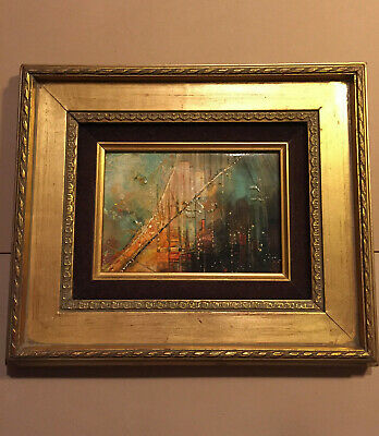 Ruth McKee Original Oil Painting, Mid Century,  Abstract,  Excellent