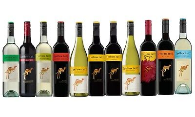 White & Red Wine Mixed Yellow Tail Pack Big Brand Special 12x750ml Free Delivery