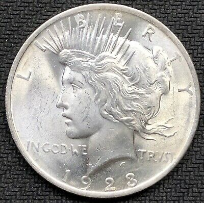 Uncirculated 1923-P Silver Peace Dollar