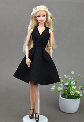"""Black Little Dress Doll Dresses Classical Evening Dress Clothes for 11.5"""" Doll"""