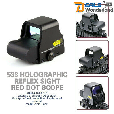 533 Holographic Reflex Sight Red Dot Scope Tactical Red-Green Rifle Sight