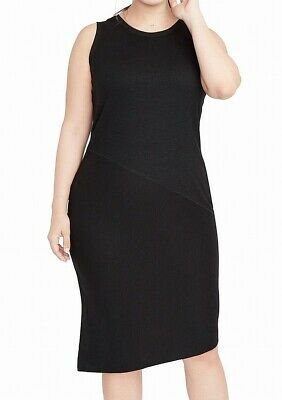 33d8eb71dc Rachel Rachel Roy NEW Black Womens Size 2X Plus Sleeveless Sheath Dress   115 277