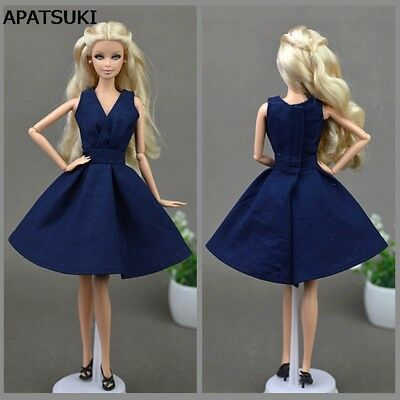 "Blue Handmade Doll Dress For 11.5"" Doll Clothes Party Dresses Doll Accessories"