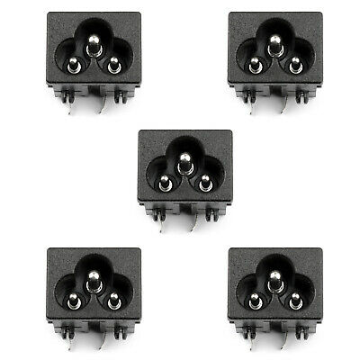 5PCS IEC320 C6 3 Pin Male Power Socket With Switch 2.5A 250V Pour Boat AC-30B AF