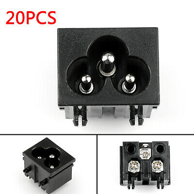 20PC IEC320 C6 3 Pin Male Power Socket With Switch 2.5A 250V Pour Boat AC-30A AF