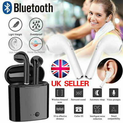 Twins Wireless Earphone Bluetooth Headphones Stereo Earbud Sports Sweatproof uk