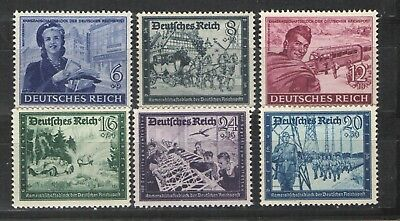 Germany Third Reich 1944 Sc# B272-B277 MNH VF - Semi postal set # 2