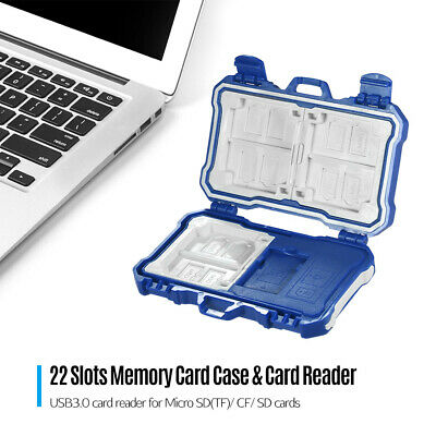 Waterproof Memory Card Case Holder Storage Box 22In1 for Micro 12SD(TF) 3CF 7SD