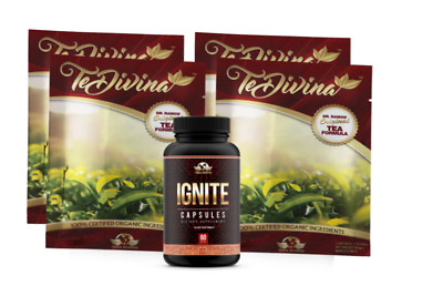 Te Divina Detox Tea (4 Week Supply)& 60 Ignite Capsules. Free Shipping!!!