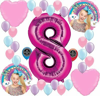 JOJO SIWA Party Supplies Birthday Balloon Decoration Bundle For 8th