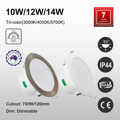 1x 10x 10W 12W 14W LED DOWNLIGHT CCT TRI COLOR SELECTABLE 70MM 90MM 120MM CUTOUT
