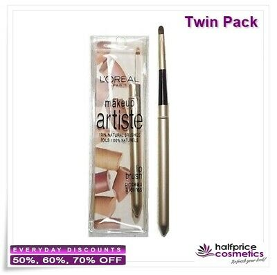 LÓreal, Makeup Artiste 100% Natural Lip Brush, (Twin Pack)