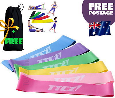 6 SET Heavy Duty TTCZ YOGA RESISTANCE BANDS LOOP Fitness Gym  Exercise Workout