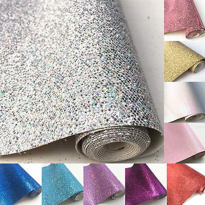 Hexagon Chunky Glitter Fabric Faux Leather Sparkly Bows Craft Material A4 Sheets