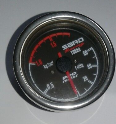 Genuine Sard Racing pro meter Boost Gauge 60mm Turbo Drift Jdm Jap HKS GREDDY