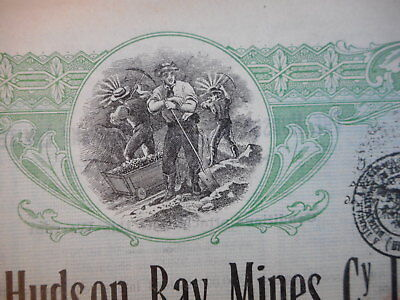The HUDSON BAY mines Ltd   1911 Ontario CANADA