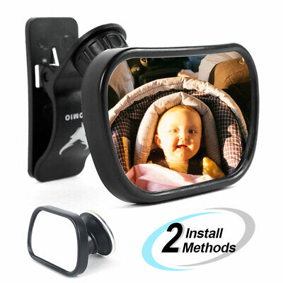 Baby Mirror Back Seat Rear Ward Safety View for Infant Child w/ Clamp & Sucker