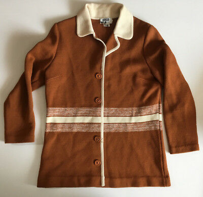 Vintage 50s 60s Myer Grand Ma Womens Rockabilly Cardigan Knitted Size 14 Hipster