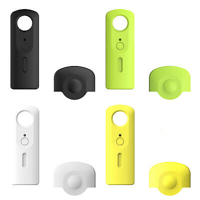 Silicone Skin Case Protective Cover Lens Cap For Ricoh Theta S SC Camera T2