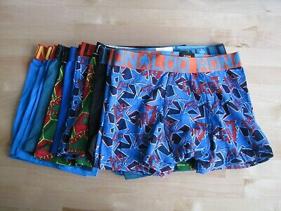 12x Boy's CR7 Underwear Cotton Stretch Trunks with small defects size 7-10