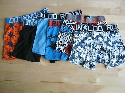 7x Boy's CR7 Underwear Cotton Stretch Trunks with small defects size 4-5