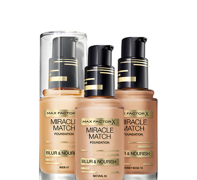 Max Factor Foundation Miracle Match Blur & Nourish - CHOOSE YOUR SHADE