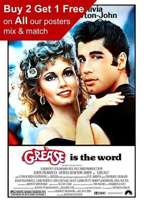 Grease 1978  Movie Poster A5 A4 A3 A2 A1