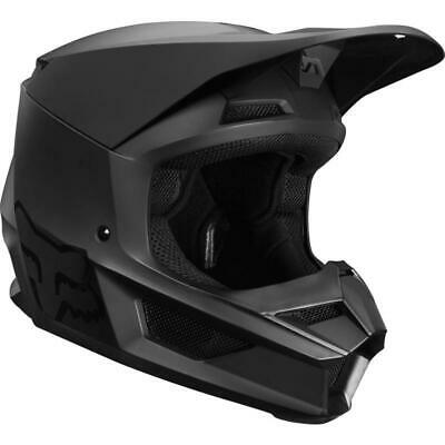 NEW Fox 2019 V1 Motorcycle Kids Helmet - Matte Black from Moto Heaven