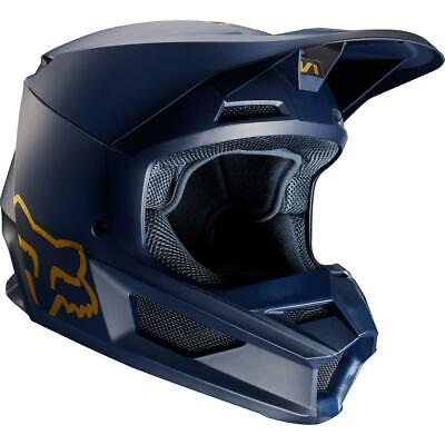 NEW Fox 2019 Le V1 Motorcycle Helmet - Navy/Gold from Moto Heaven