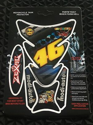 46 Rossi 3D Motorcycle Fuel Tank pad Tank Protector Cover Sticker Yamaha