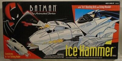 Batman The Animated Series Ice Hammer Vehicle Blasting Drill Mint in Sealed Box