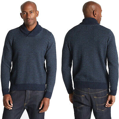 Marks & Spencer Mens Textured Shawl Collar Jumper New M&S Sweater Pullover Top