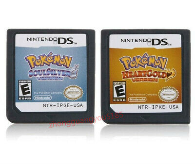 For Nintendo NDSI,nds,3ds Game Cartridges Pokemon: HeartGold,SoulSilver Version