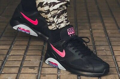 Nike Air Max 180 AQ9974 001 Black/Pink Blast-Wolf Grey Men's shoes