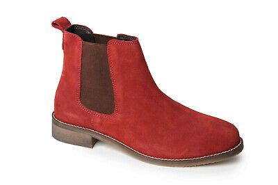 e0f3042a9 Ladies Red Suede Chelsea Ankle Boots with Elastic Gusset Catesby LCX3167R