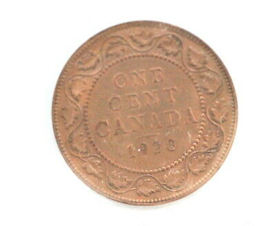 1920 George V Large Cent CAN • Cleaned • ICCS Grade EF-40