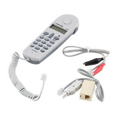 LX_ CN_ Professional Phone Test Dual System Telephone Tester Lineman Cable Set