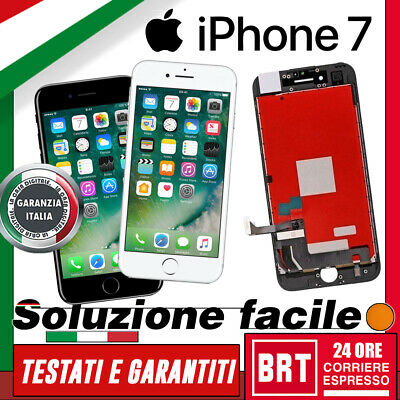 Lcd + Touch Screen + Frame Per Apple Iphone 7 7G Display Retina Schermo_24H!!!