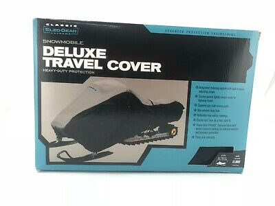 Snowmobile Heavy-Duty Travel Cover: Grey/Black X-Large
