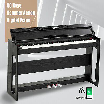 88 Weighted Action Key Electric Digital Piano Keyboard w/Adapter+3 Pedal+H Stand