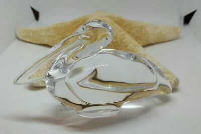 Baccarat - France, 3 x 5 inch Crystal Pelican Paperweight / Figurine, Excellent